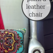 Painting a Leather Chair... Yes I did!