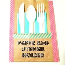 Paper Bag Utensil Holders