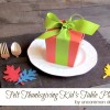Kid's Table Felt Thanksgiving Placemats