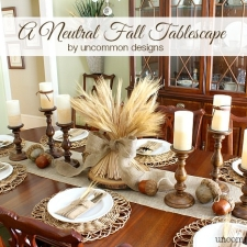 A Neutral Thanksgiving Tablescape