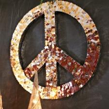 Peace Sign Wall Art for Christmas