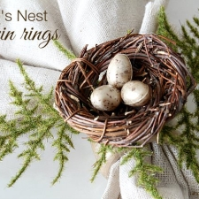 How To Make Bird's Nest Napkin Rings