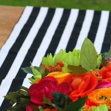 5 Minute No Sew Fabric Table Runner