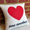 Love One Another a Valentine Pillow