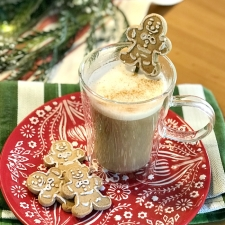 Homemade Gingerbread Cookie Latte