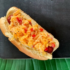 Grilled Pimiento Cheese Hot Dogs