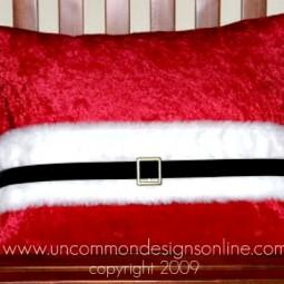 Uncommon Santa Belt Pillow Erin Galloway Interiors 2009
