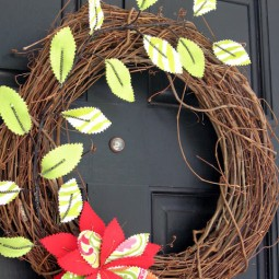 Fabric Leaf Outdoor Wreath Uncommon 2010