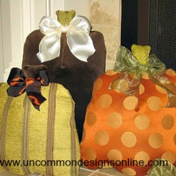 fabric pumpkin pillows 016