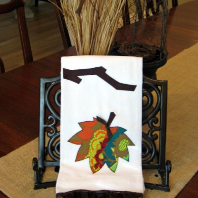 Falling for Fall… { Leaf Appliqued Towel }