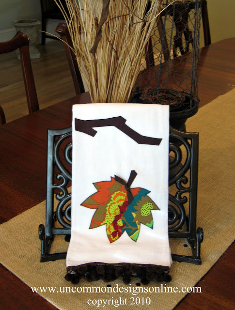 Leaf Applique Fall Towel Uncommon 2010