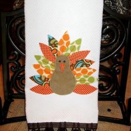 Appliqued Turkey Towel uncommon 2010