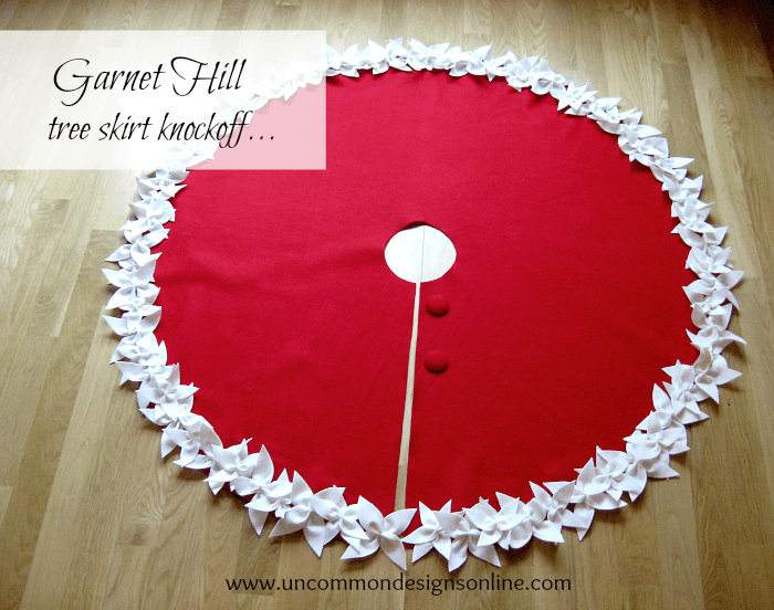 Garnet hill tree skirt knockoff