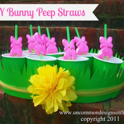 DIY Bunny Peep Straws…An Easter Treat