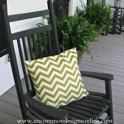 Uncommon Chevron Spring Porch Pillow 2 2011