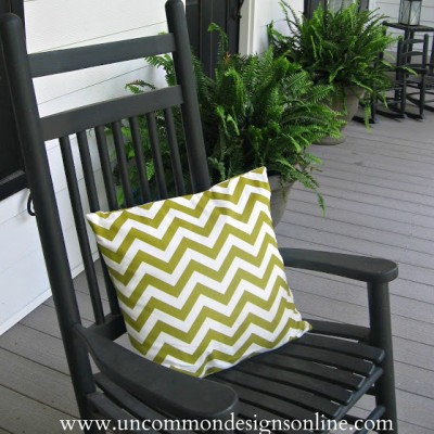 Summertime…and the livin' is easy…{ Chevron Pillow }