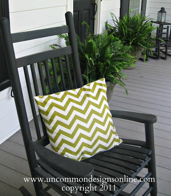 Summertime...and the livin is easy...{ Chevron Pillow } - Uncommon ...