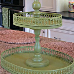Uncommon green tiered tray tutorial 2011