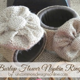 burlap-flower-napkin-rings-uncommon-designs