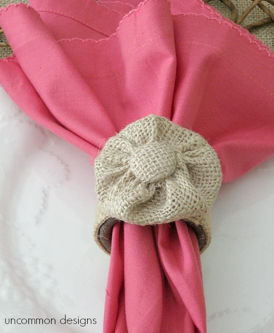 burlap-rossette-napkin-ring-uncommon-designs
