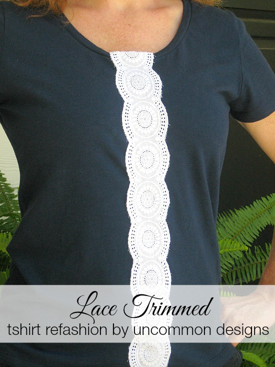 A quick and adorable way to dress up a simple and plain tshirt!