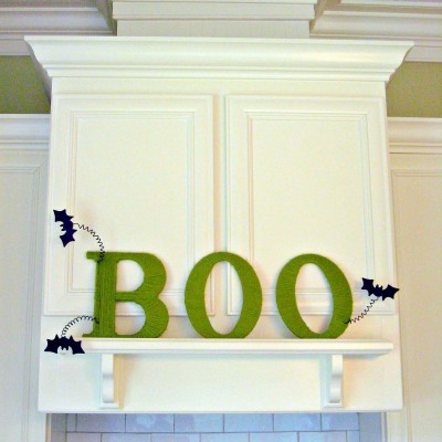 """BOO""tiful Yarn Wrapped Letters…"