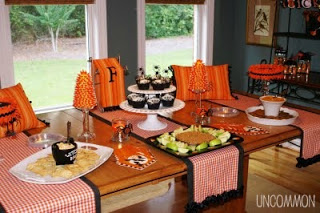 "Our Halloween ""Boo"" tique Tablescape"