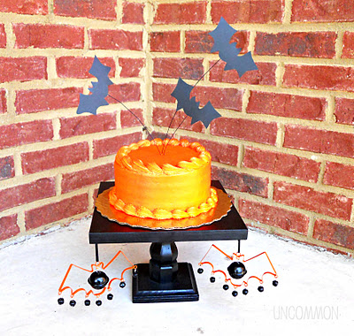 outside bat cake toppers