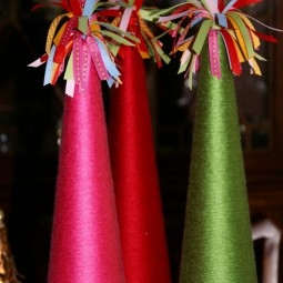 Christmas Yarn Trees Uncommon Designs
