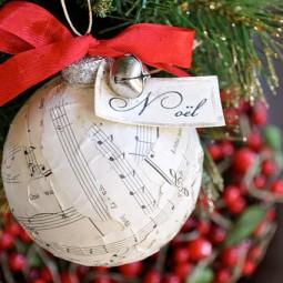 sheet music christmas ornament tutorial