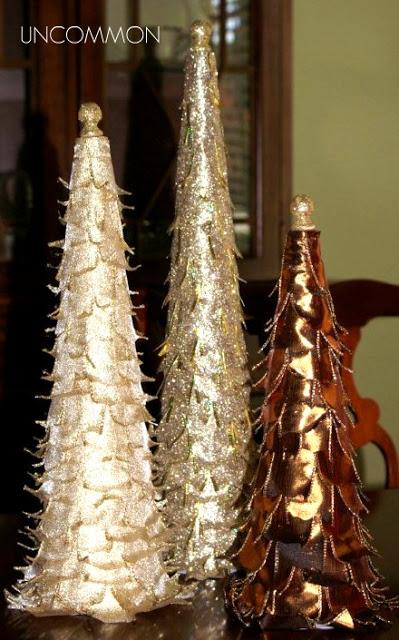trio of trees metallic