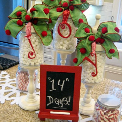 Oh JOY Apothecary Jars ….the Christmas countdown is on!!