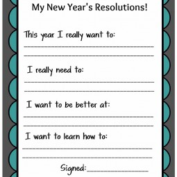 Kid's New Year's Resolutions Printable