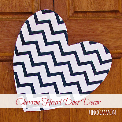 chevron heart door decor
