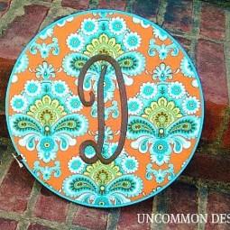 Monogrammed Embroidery Hoop Wall Art