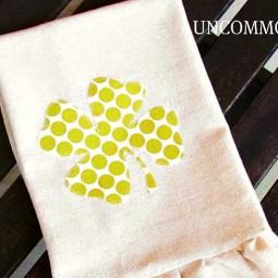 four leaf clover towel