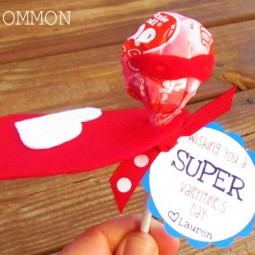 Girly Superhero valentine