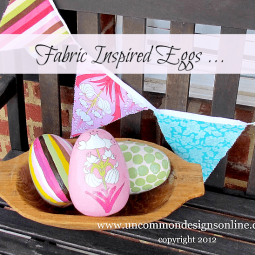 fabric inspired painted eggs