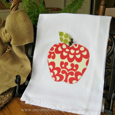 Appliqued Apple Towel…{ A Teacher Gift }