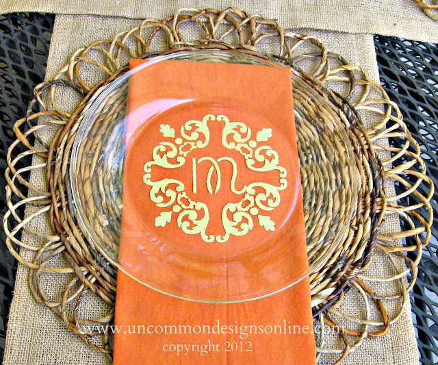 Uncommon Martha Stewart 2012 monogrammed plate 1