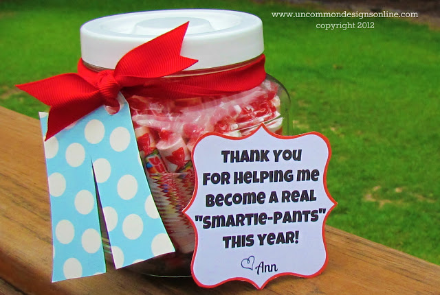 Teacher Appreciation Gift and Printable Idea.