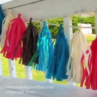 Tissue Tassel Garland Up Close
