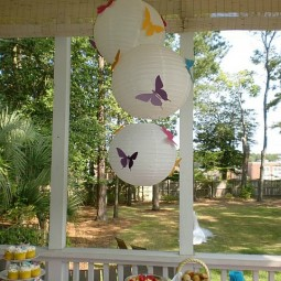 butterfly lanterns table