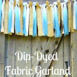 Dip Dyed fabric garland