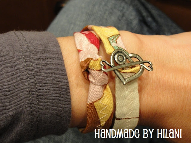 Sweet and easy sewing project. This Fabric Wrap Bracelet is a great teen or tween or beginner sewing project via Uncommon Designs.