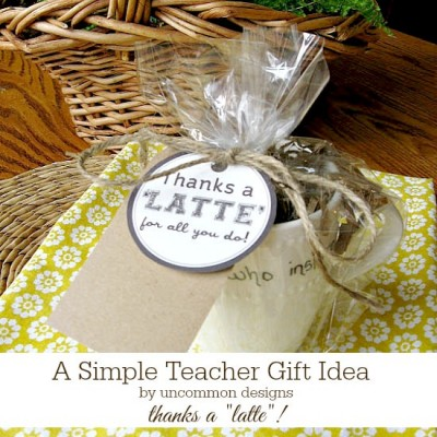 A Simple Teacher Gift Idea