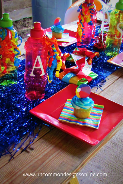 summer beach ball party place setting