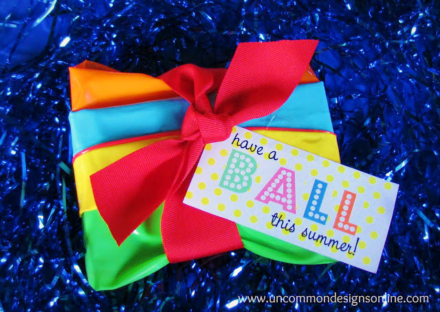 Summer Beach Ball theme party favor from Uncommon Designs.
