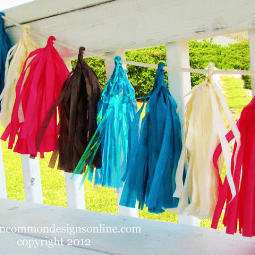 How To Make a Tassel Garland from Tissue Paper