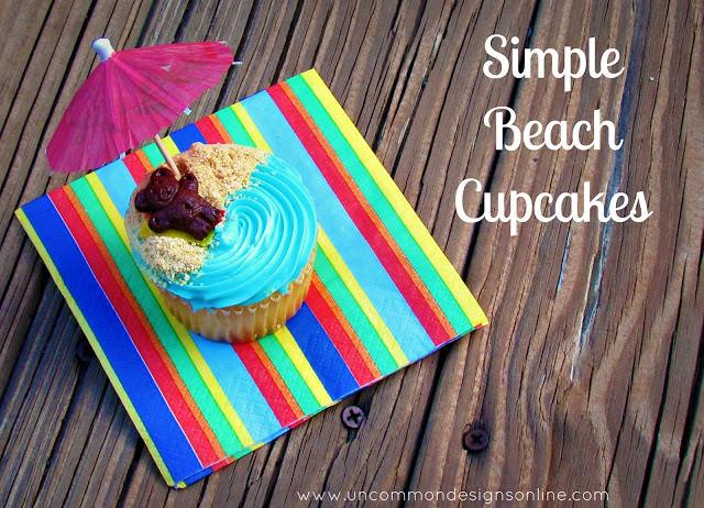 Simple Beach Cupcakes